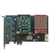 AEX800 4FXO+4FXS Asterisk card PCIe card for elastix trixbox freepbx voip pbx