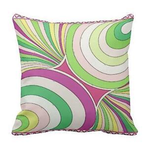 Pillow or Lumbar Bar Pillow Braniff Pucci Design 1971 Collection Pink