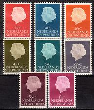 Dutch New Guinea - 1954 Definitives Queen Juliana - Mi. 30-37 MH