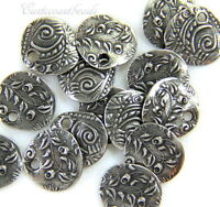 TierraCast Celtic Labyrinth Charms 4 Pieces 2612 Antiqued Silver Plated