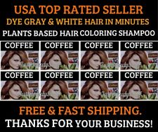 10 PCS BROWN COFFEE COLOR HAIR DYE SHAMPOO SIMPLE GRAY HAIR COVERAGE IN MINUTES