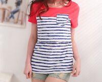 Nursing / breastfeeding Tshirt top with stripe pattern BNWT