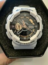 Casio G Shock White With Black And Rose Gold Face 5146 Ga-110gb Antimagnetic...