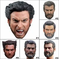 "1/6 Scale Wolverine Logan Hugh Jackman Head Sculpt For 12"" Male Figure Body Toy"