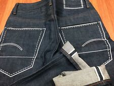 BNWT G-Star RAW Red Listing US First Chain Classic Tapered Selvedge Denim Jeans