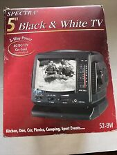 "Vintage Spectra (52-Bw) 3-Way Power 5"" Black & White Analog Television"