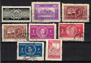 AFGHANISTAN LOT Scott 318//345 (8) MH and Used ## 1 cent start ##