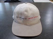 VINTAGE Atlanta Braves Strap Back Hat Cap White Gray MLB Baseball Mens 90s