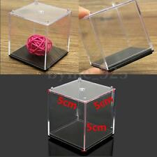 5x5x5cm Acrylic Cube Display Show Box Case Stand Square Sided Box Dustproof