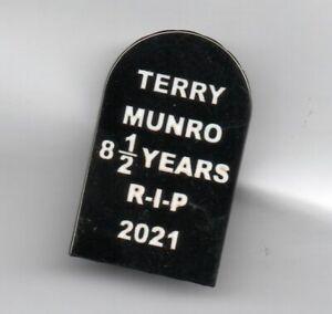 RANGERS  BADGE TERRY MUNRO 8 1/2 YEARS R-I-P 2021