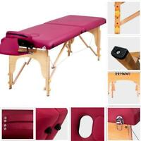 "84""L Folding Portable Massage Table Bed Spa Beauty SalonFacial Therapy Couch Bed"
