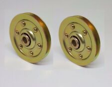 Genuine Garage Door 3 Inch Heavy Duty Sheave Pulley (200 lb Load) (2 PACK)