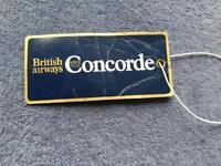 British Airways Concorde bagage main BALISE 1976