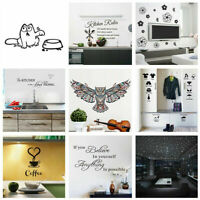 Cute DIY Removable Art Wall Stickers Mural Home Bedroom Decal Decor Room. V R8N2