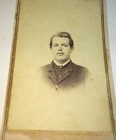 Rare Antique American Uniform Civil War Union Soldier, Tinted Buttons CDV Photo!