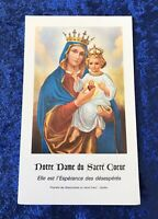 Vintage Antique 1961 Notre Dame Holy Prayer Card Catholic Religious Protection