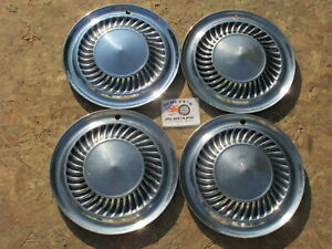 """1959, 1960 FORD THUNDERBIER, RANCH WAGON 14"""" WHEEL COVERS, HUBCAPS, SET OF 4"""