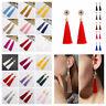 Women Fashion Bohemian Earrings Jewelry Long Tassel Fringe Boho Hook Drop Dangle