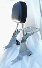 Detachable Passenger Sissy Bar Backrest with Luggage Rack Sportster XL883 04-17