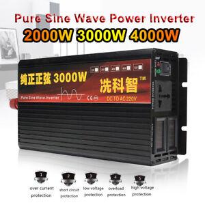 Pure Sine Wave Power Inverter DC12/24V to AC220V 2000-4000W Solar Inverter Surp
