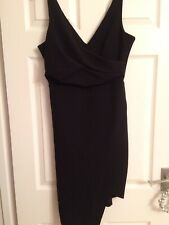 River Island Ladies Dress Size 12 Black Long Front