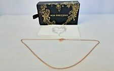 MIMCO MIM Precious Becher Necklace 14K Rose Gold Plated On 925 Silver New In Box
