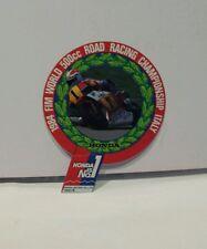 Adesivo Sticker HONDA FIM WORLD RACING CHAMPIONSHIP 1984 - moto vintage anni '80