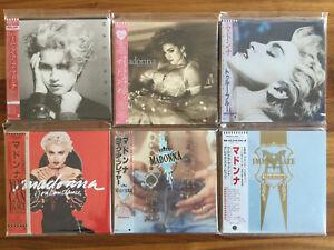 JAPAN MADONNA MINI LP CD COLLECTION! LIKE A PRAYER VIRGIN TRUE BLUE /// madame x