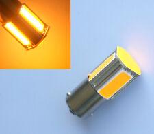 2X Yellow 1156 G18 Ba15s 4 COB LED Turn Signal Rear Light Car LED Bulb 12V