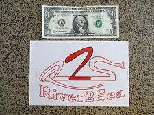 Groß River 2 Hochseeangeln Aufkleber 8 X 5 1/4 Zoll