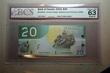 5.740M-5.800M Canada $5 2004 HNZ Replacement BCS Graded UNC 62