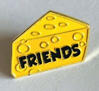 Swiss Cheese Slice Friends Novelty Pin Badge Rare Vintage (A5)