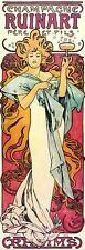 Champagne ruinart 1897 alphonse mucha reproduction art nouveau poster imprimé neuf