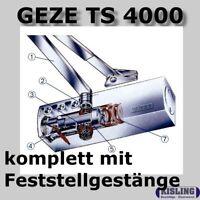 GEZE TS 4000 Türschliesser mit Feststellarm Ein/Aus silberfarbig