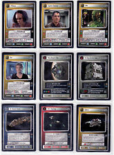 Star Trek CCG The Borg Complete Mint Set Including Ultra Rare Reginald Barclay.