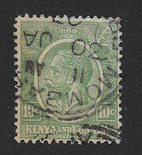 KENYA UGANDA TANGANYIKA 1922 KING GEORGE V  10c USED  (X1)