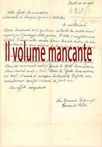 S. Apollinare in Oriolo dei fichi Lettera manoscritta ricostruzione guerra 1945