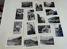 15 Small Amateur Black+White Photos 1959 Padstow+Polperro+Looe+Newquay   §E1553