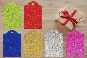 Glitter Gift Tags Christmas Birthday Tag Wedding Tags 5cm X 8cm