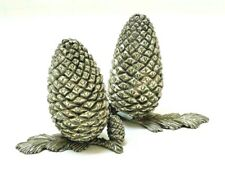 Pierre Deux (presumed) Pewter Pinecones Salt & Pepper Shakers -  unused