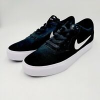 Nike SB Solarsoft Charge Men's 8.5 Skate Shoes Sneakers Canvas Black White
