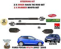 Pour Ford Focus ST170 2.0 2002- > 2 X Intérieur Piste Rack Cravate Canne Fin +