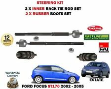 FOR FORD FOCUS ST170 2.0 2002-> 2 X INNER TRACK RACK TIE ROD END + RUBBER BOOTS