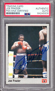 JOE FRAZIER Signed AUTO 1991 AW Boxing Hall of Fame PSA/DNA Authentic HOF