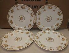 4 Discontinued Spode England Austen Fine Bone China 10.5 inch dinner plates.
