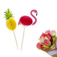 10pcs ananas Flamingo fruit cure-dent gâteau de mariage décoration anniversa ST