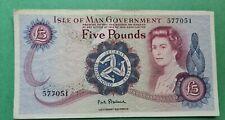 More details for rare (stallard) isle of man £5 note (1972) no prefix