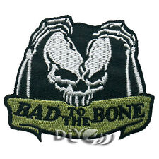 BAD TO THE BONE  Motorcycle Biker Iron On Sew on Badge Applique Patch For Sewing