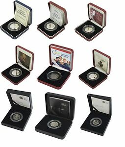 SILVER PROOF 50P FIFTY PENCE CHOICE OF YEAR ROYAL MINT BOX AND COA