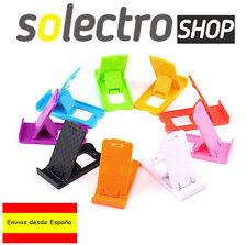 Soporte plegable de plástico para móviles tablets eBooks Smartphone AMARILLO E07